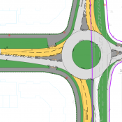 New roundabout layout at Pennyfeathers